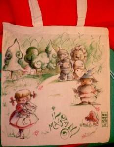 Dorothy sulla via di Oz con il fido cagnolino e i suoi magici amici!